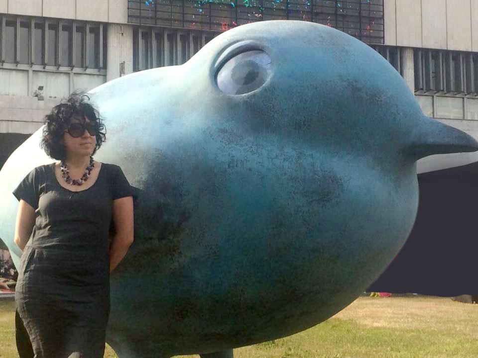 Скульптура Большая Синяя птица Ольги Муравиной